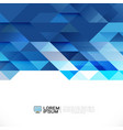 abstract blue geometric layout template on white vector image vector image