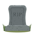 ancient RIP Grave isolated Old gravestone with vector image vector image