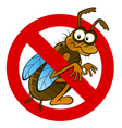 anti abstract insect sign vector image vector image