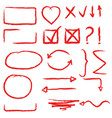 arrows circles and abstract doodle writing design vector image