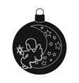 ball single icon in black stylea toy symbol vector image