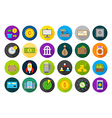 Banking round icons set vector image vector image