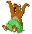 bear waking up vector image vector image