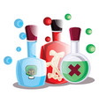 blue red and green poison halloween bottles on vector image vector image