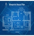 Blueprint house plan vector image vector image