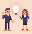 business man and woman colleagues work together vector image vector image