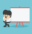 Businessman giving a presentation board for text vector image vector image