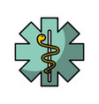 caduceus medical shield vector image vector image