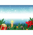 christmas background new year decoration with fir vector image vector image