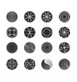 circle shapes set for design vector image vector image