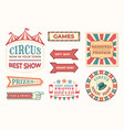 circus vintage banner carnival retro signs vector image
