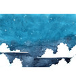 cloud sky at night watercolor background vector image