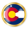 colorado flag button vector image vector image