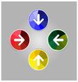 colorful arrow icon vector image vector image