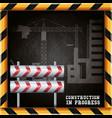 construction in progress design vector image vector image