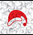 creative merry christmas capbackground vector image