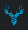 deer be wild and free invert blue vector image