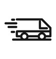 delivery cargo service logistic fast commercial vector image vector image