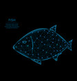 fish low poly model animal in polygonal style