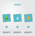 flat icons eco energy sunshine water and other vector image vector image