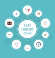 flat icons libra task list diagram and other vector image