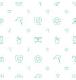 flower icons pattern seamless white background vector image vector image