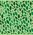 foliage pattern seamless summer or spring green vector image vector image