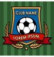 Football Club Emblem vector image vector image