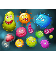 Germs with monster face vector image vector image