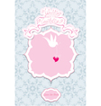 Greeting Card with a lace ornament vector image