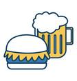 hamburger and beer symbol vector image vector image