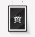 hand drawn skull with wrench vector image