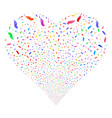 hand fireworks heart vector image vector image