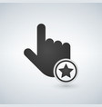 hand mouse cursor icon with star in the circle vector image vector image