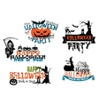 Happy Halloween posters and banners vector image vector image