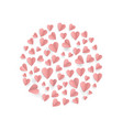 hearts on abstract love background with paper cut vector image vector image