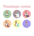Housekeeper woman make housework vector image