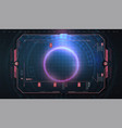 hud ui gui futuristic frame user interface vector image vector image