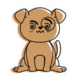 isolated cute standing dog vector image