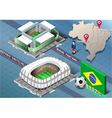 Isometric Stadium of Cuiaba and Fortaleza Brazil vector image vector image