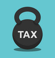 kettlebell weight tax concept vector image
