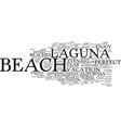 laguna beach california text background word vector image vector image