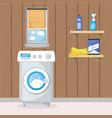 laundry room interior vector image