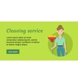Member of Cleaning Service with Broom and Duster vector image vector image
