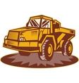 Mining dump truck vector image vector image