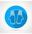 Mittens pair flat icon vector image vector image