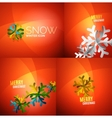 Modern Abstract Christmas Card set vector image vector image