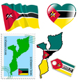 national colours of Mozambique vector image vector image