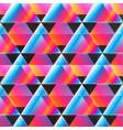 neon triangle pattern vector image vector image