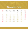 november 2018 calendar popular premium for vector image vector image